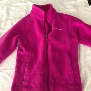Pink fleece Columbia jacket